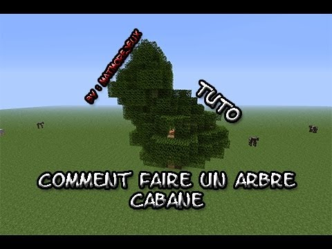 minecraft comment faire un arbre cabane pour iplay4you youtube. Black Bedroom Furniture Sets. Home Design Ideas