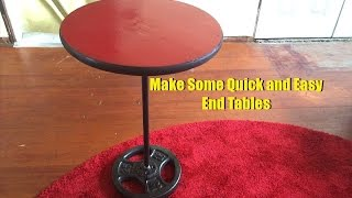 Make 2 10-Minute End Tables