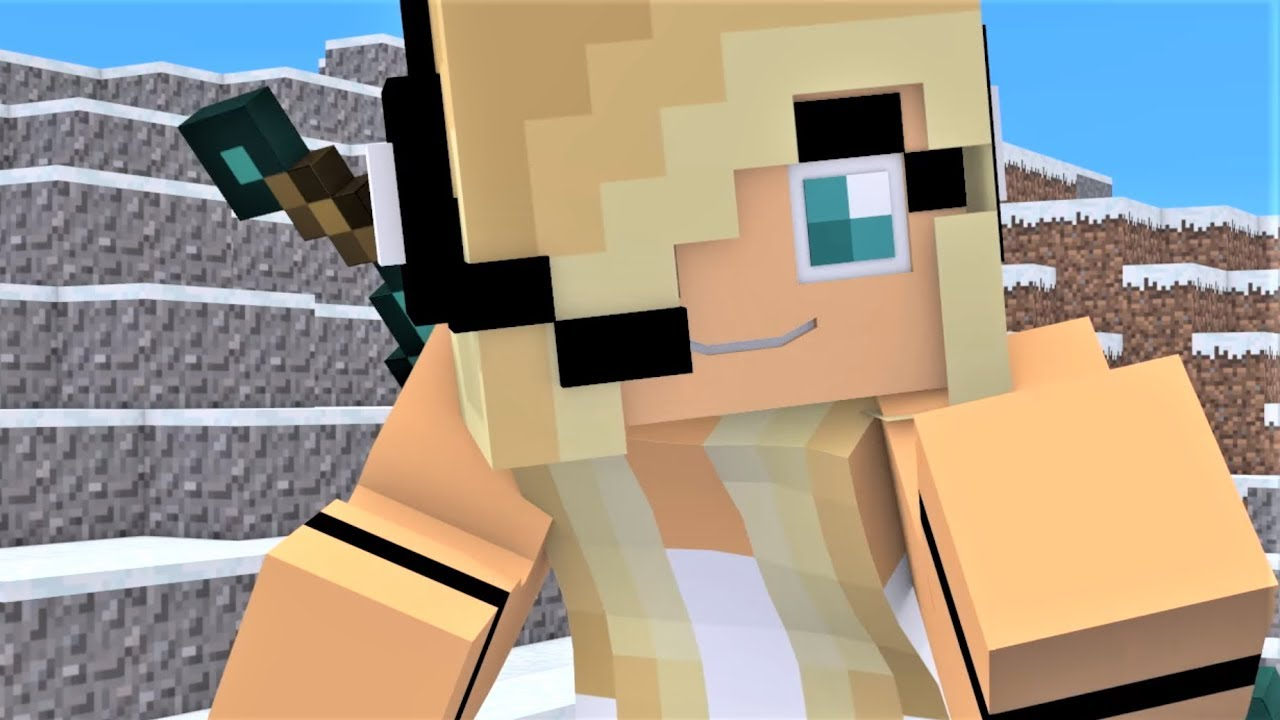 NEW Minecraft Song Psycho Girl 12 ONE HOUR - Psycho Girl Minecraft  Animations and Music Video Series
