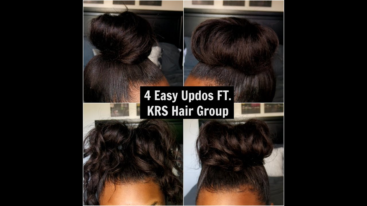 4 Super Easy Updo Hairstyles Ft Knappy Hair Extensions Youtube
