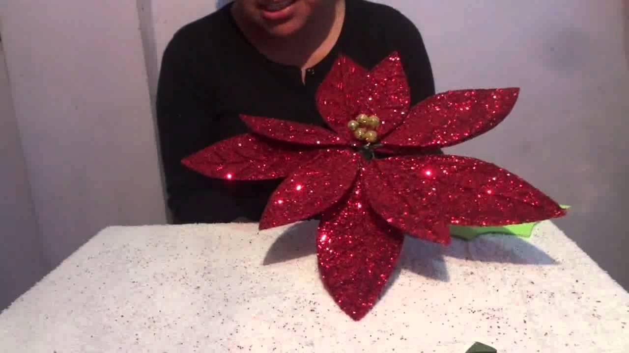 Flor de nochebuena con fomi 5 de 5 manualidades ideas - Como hacer decoraciones navidenas ...
