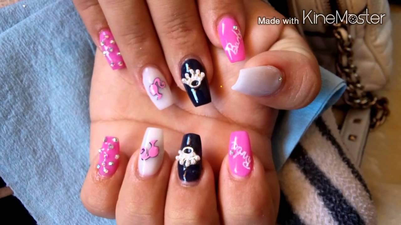 Set de uñas BARBIE - YouTube