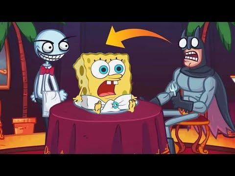 Trollface Quest Internet Memes Vs Spongebob Game Frenzy Game Fun Video HD - Game For Kids
