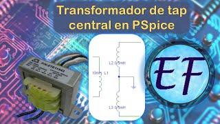 Transformer-Center Tap Pspice(En este video se muestra como acoplar tres bobinas para obtener un transformador con tap central, para con esto rectificar una señal de manera adecuada ..., 2013-09-21T05:40:55.000Z)