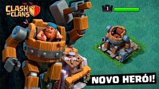 CASA DO CONSTRUTOR #16: JOGUEI COM O NOVO HERÓI DO CLASH OF CLANS