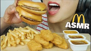 ASMR McDonalds Chicken Nuggets + Cheeseburger (EATING SOUNDS) | SAS-ASMR