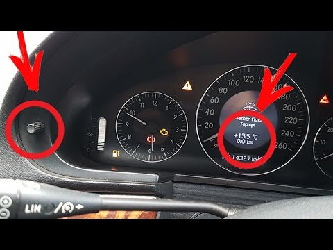 How To Reset The Daily Mileage On The Mercedes W211 How