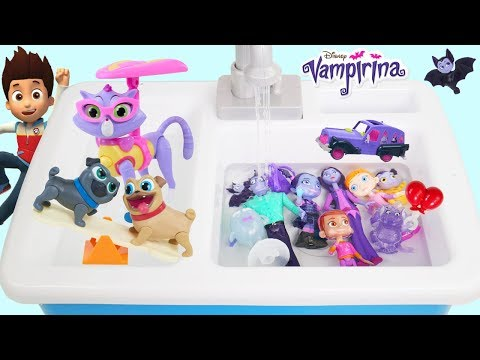 Vampirina Disney Jr Kitchen Sink Tree House Jail Rescue Puppy Dog Pals McDonalds Drive Thru Prank!