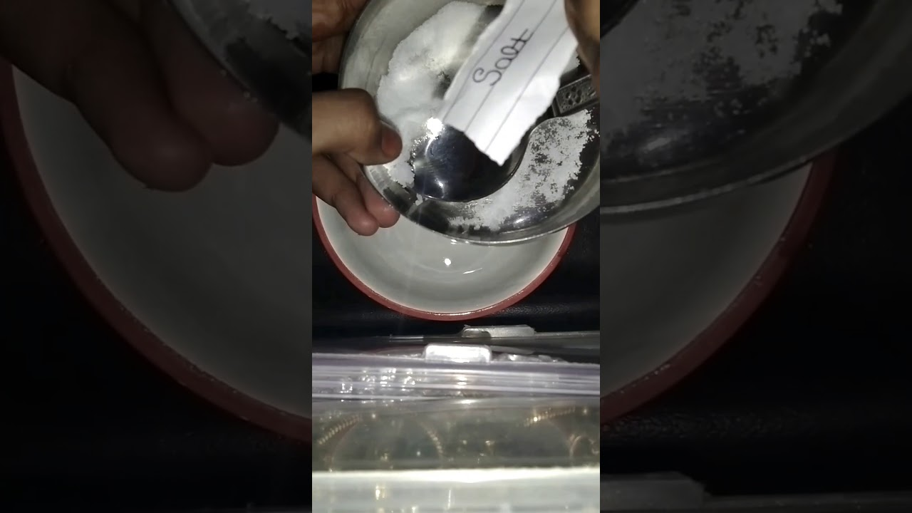 How to make a slime activator / with detergent and salt ...