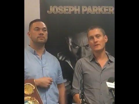 JOSEPH PARKER NEWS CONFERENCE - 22 November 2017