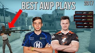 CS:GO - BEST AWP PLAYS OF 2017 ft. kennyS, Stewie2K, coldzera, Skadoodle & MORE! (Highlights)