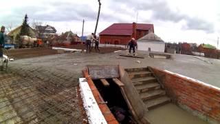 Монолитная плита - непрерывный процесс заливки бетона(Очень важным в процессе заливки монолитной плиты перекрытия является непрерывность процесса, избегая..., 2016-01-04T15:23:31.000Z)