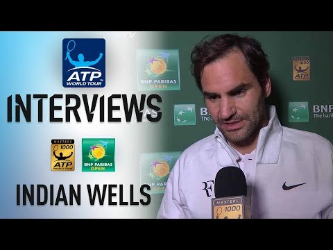 Federer Previews Coric SF In Indian Wells 2018