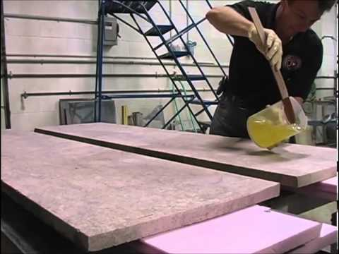 How To Laminate 2 Slabs Together / How To Create A U0027Roughu0027 Edge On Granite  Slabs