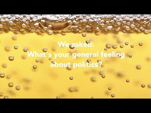 We asked - What's your general feeling about the current state of politics?