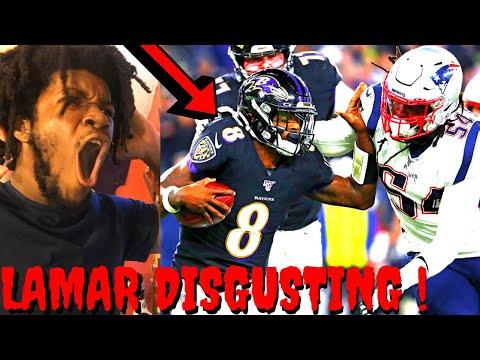 PATRIOTS VS RAVENS REACTION NFL WEEK 9 HIGHLIGHTS - LAMAR JACKSON TOO DISGUSTING !