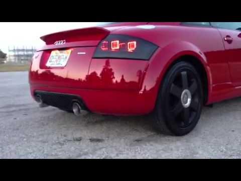 Audi tt 1.8t Quattro 3in custom exhaust - YouTube