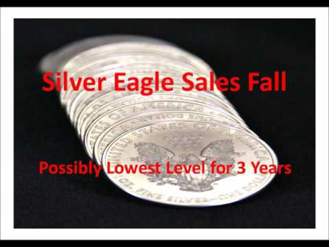 Silver Eagle Coin Sales Fall - possibly lowest level for 3 Years