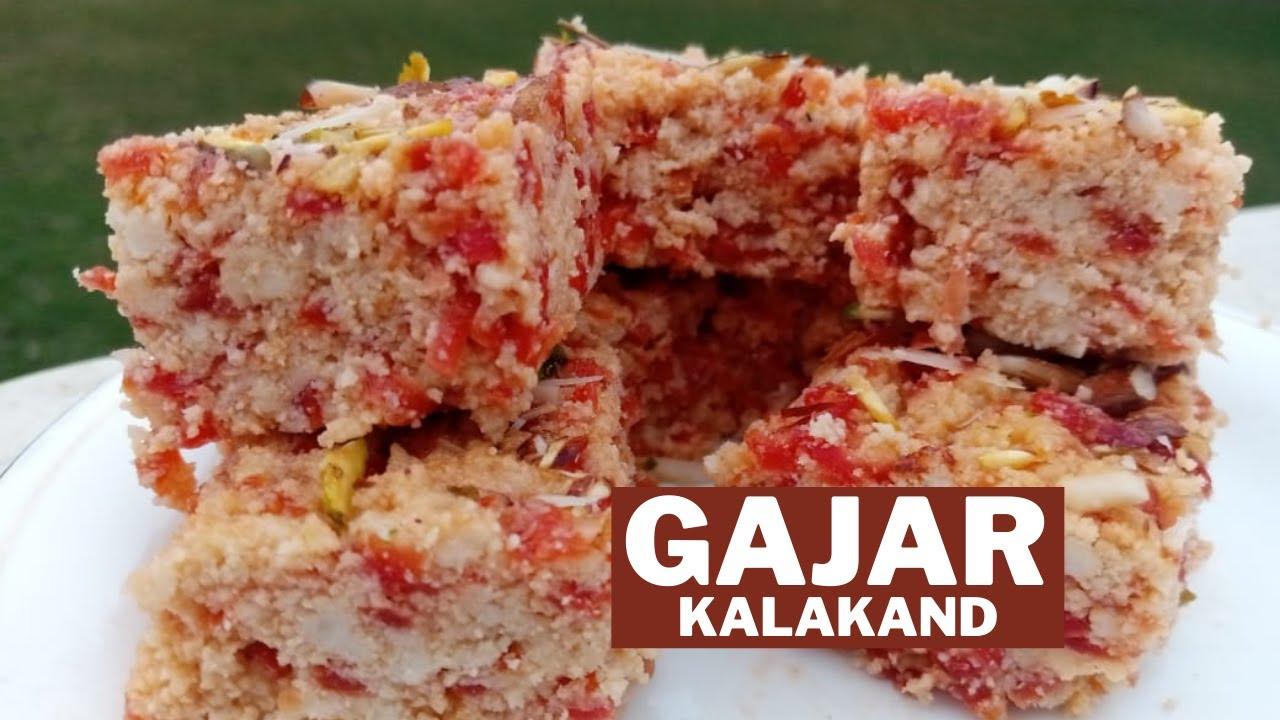 Gajar Kalakand Recipe | Gajar Khoya Barfi | Carrot Paneer Barfi | Food Planet By Mahreen