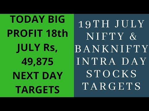 #19th July #Nifty/&/banknifty/Intraday trading stocks Targets telugu & hindi