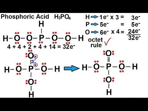 Ionic Bonding Lewis Dot Diagram 2006 Hayabusa Wiring Chemistry - Chemical (25 Of 35) Structures Phosphoric Acid- H3po4 Youtube