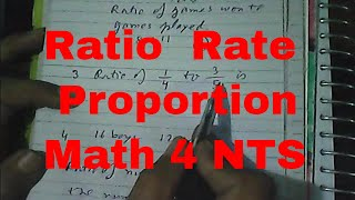 Ratio, Rate, Proportion, Quantitative NTS HEC GAT NAT HAT [Urdu/Hindi]