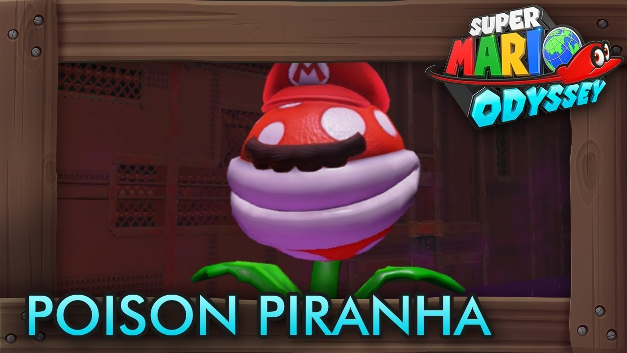 Super Mario Odyssey How To Capture Poison Piranha Plant Capture