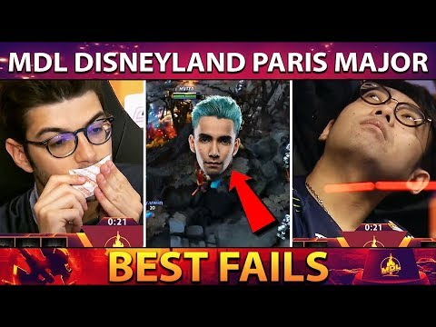The BEST Fails and FUNNIEST Moments of MDL Disneyland Paris Major - Dota 2