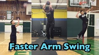 Develop a FASTER ARM SWING - How to SPIKE a Volleyball Tutorial