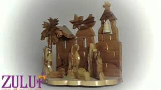 Nativity - Holy Family Hand Carved Olive Wood