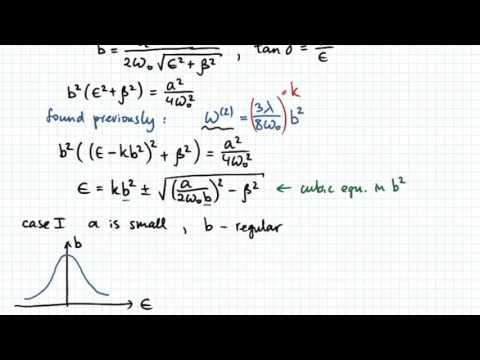 Resonance in Nonlinear Oscillators