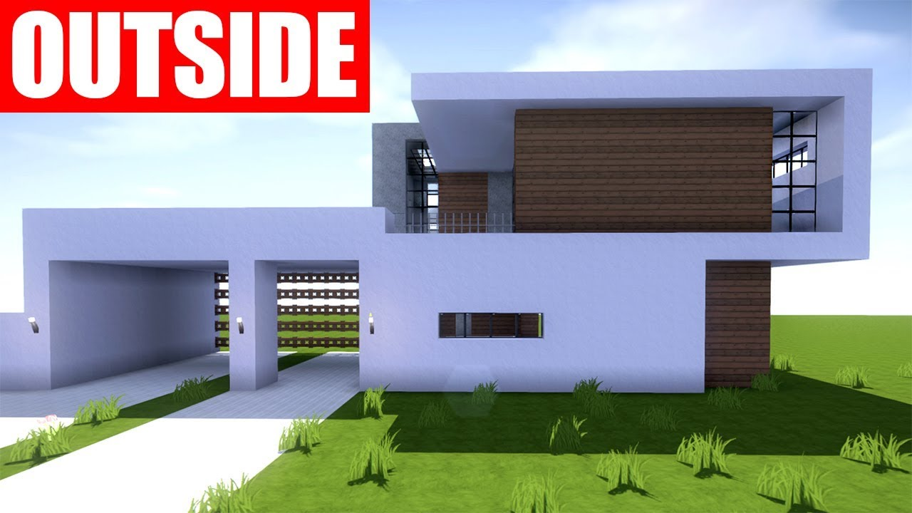Minecraft tutorial how to build a modern house in minecraft youtube - Modern house minecraft ...