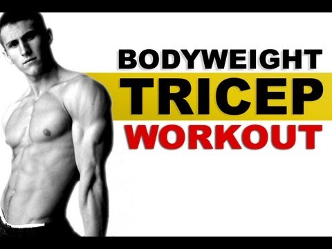 killer home triceps workout  using just your bodyweight
