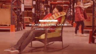 Assembly: Wicker Rocking Chair (SKY1881 SKY3130)