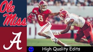 Ole Miss vs #2 Alabama Highlights | NCAAF Week 5 | College Football Highlights