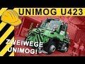 UNIMOG als LOKOMOTIVE? UNIMOG U423 ZWEIWEGE von ZWIEHOFF! Mercedes-Benz UNIMOG IAF Münster 2017 4K