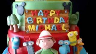 Mickey Mouse Club House, Handy Manny, &amp Little Einsteins Fondant Birthday Cake