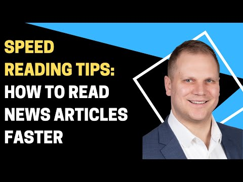 Speed Reading Tips: How to Read News Articles Faster