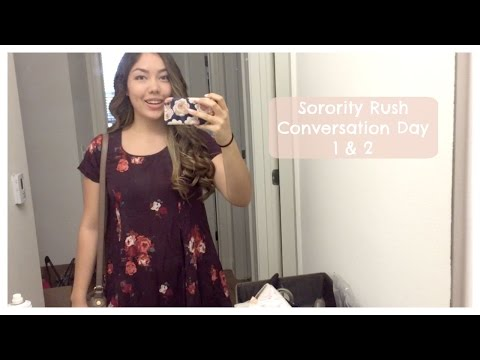 Sorority Rush Day 1 and 2! Conversation Day | Vlogust 22 & 23