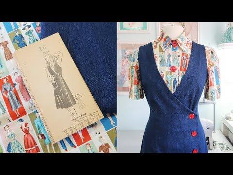 Following A 1940s Jumper Pattern ...using A Novelty Fabric!