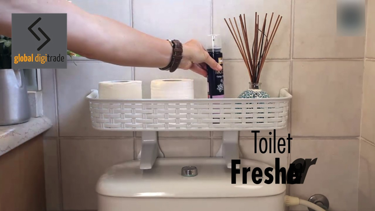 Easy Fit Toilet-Top Bathroom Shelf | No-drill Bathroom Storage ...