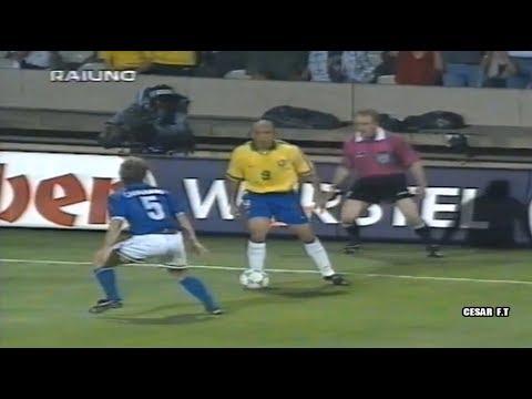 Así fue la primera vez que se enfrentaron Ronaldo y Fabio Cannavaro ► Tournoi de France 1997