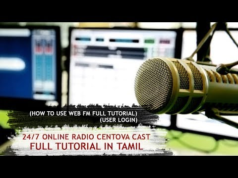 "How to Create 24/7 Online Radio ""User Role"" in Tamil"