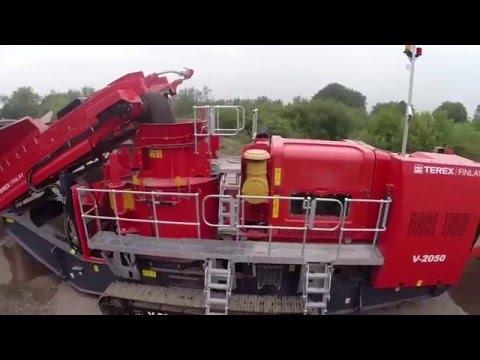 Как работает роторная дробилка с вертикальным валом TEREX V 2050. Какой материал на выходе.