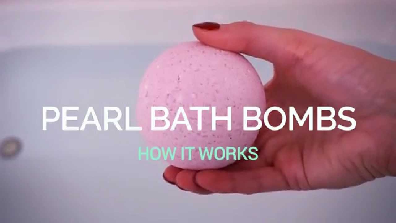 Pearl Baths Pearl Bath Bombs How It Works  Youtube