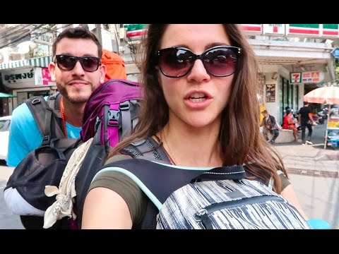 How To Do Bangkok On A BUDGET - Floating Market, Train Market & Nightlife (Khao Son Road)
