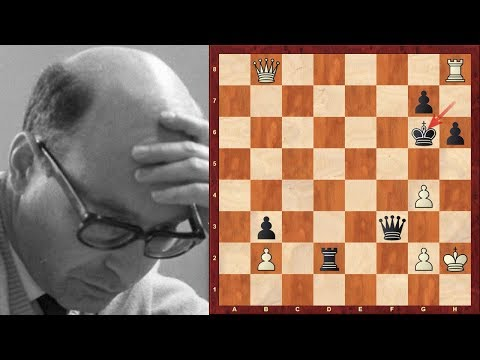 David Bronstein Top Eight Chess Sacrifices of all time!  - (or at least in top 50 of most lists!)