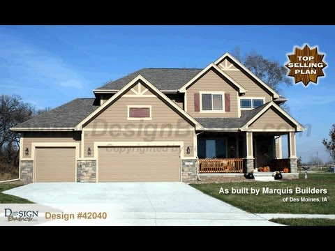 Design 42040 Sun Flower Craftsman Styled 2 Story House Plan Offered Design