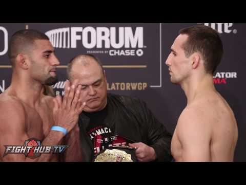 Rory MacDonald vs Douglas Lima- Bellator 192 weigh in & face off