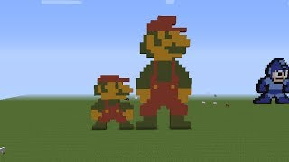 Minecraft Pixel Art Tutorial 8 Bit Mario